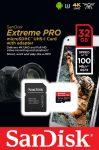 Sandisk 32GB microSDHC Extreme Pro UHS-I V30 A1 + adapterrel
